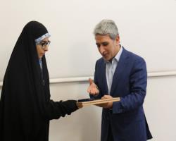 تقدیر بانک ملی ایران از نفر اول کنکور سراسری در رشته علوم انسانی